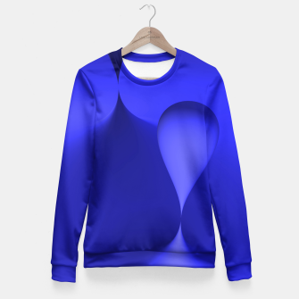 Thumbnail image of globby blue Fitted Waist Sweater, Live Heroes