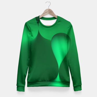 Thumbnail image of globby green Fitted Waist Sweater, Live Heroes