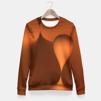 Thumbnail image of globby orange Fitted Waist Sweater, Live Heroes