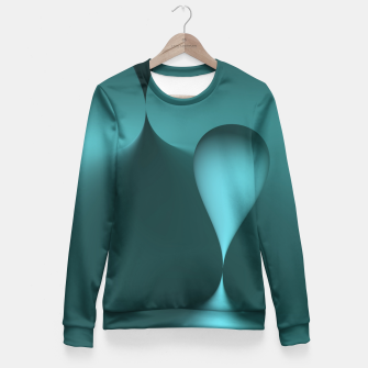 Thumbnail image of globby turquoise Fitted Waist Sweater, Live Heroes