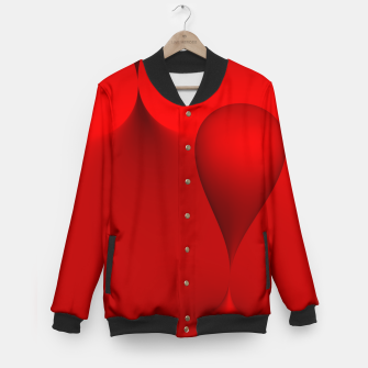 Thumbnail image of globby red Baseball Jacket, Live Heroes