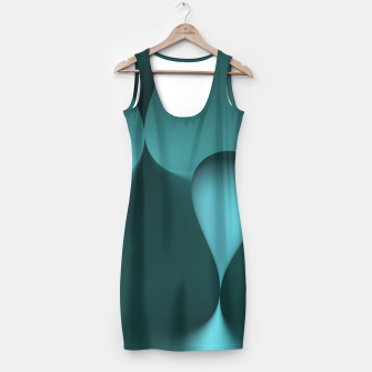 Thumbnail image of globby turquoise Simple Dress, Live Heroes