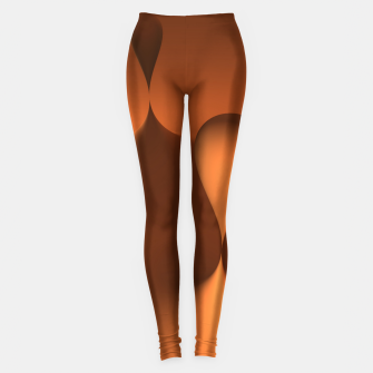 Thumbnail image of globby orange Leggings, Live Heroes