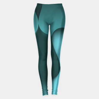 Thumbnail image of globby turquoise Leggings, Live Heroes