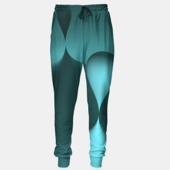 Thumbnail image of globby turquoise Sweatpants, Live Heroes