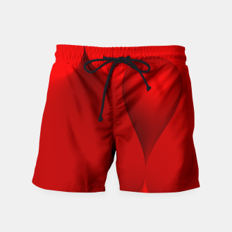 Thumbnail image of globby red Swim Shorts, Live Heroes