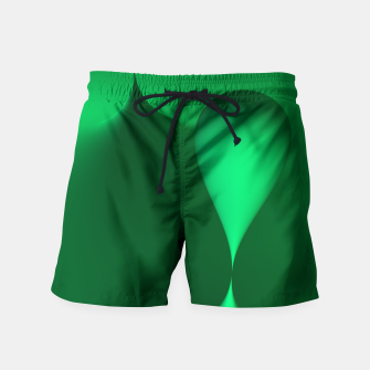 Thumbnail image of globby green Swim Shorts, Live Heroes