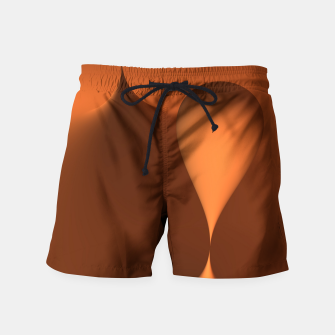 Thumbnail image of globby orange Swim Shorts, Live Heroes