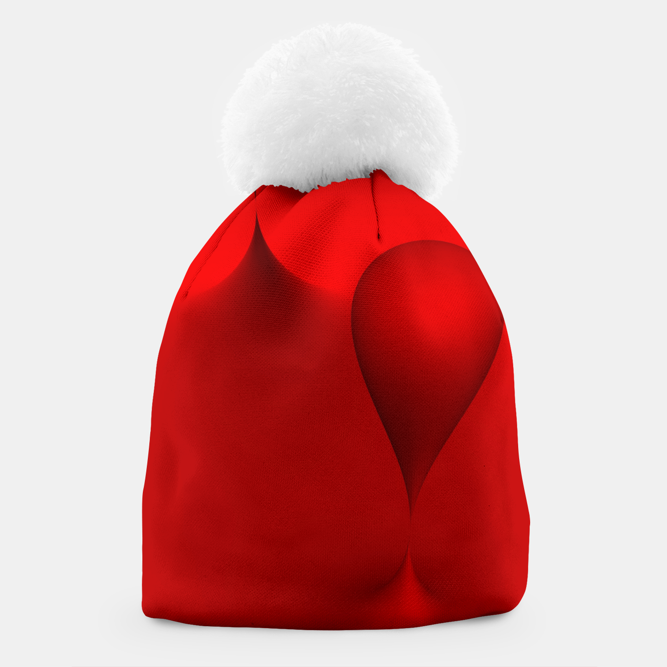 Image of globby red Beanie - Live Heroes