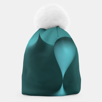 Thumbnail image of globby turquoise Beanie, Live Heroes
