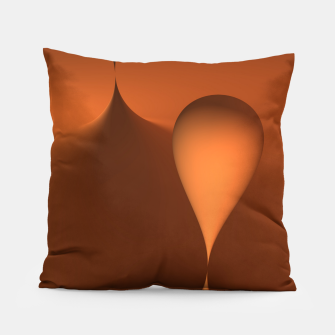 globby orange Pillow thumbnail image