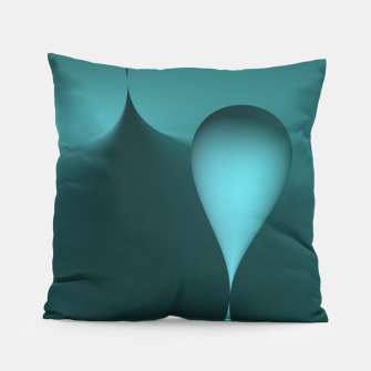 globby turquoise Pillow thumbnail image