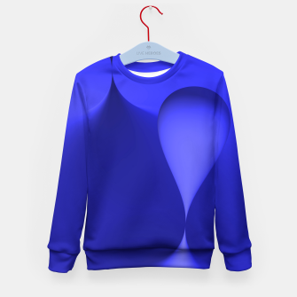 Thumbnail image of globby blue Kid's Sweater, Live Heroes