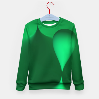 Thumbnail image of globby green Kid's Sweater, Live Heroes