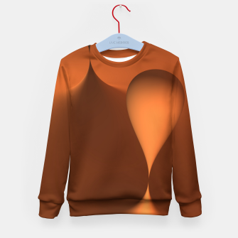 Thumbnail image of globby orange Kid's Sweater, Live Heroes