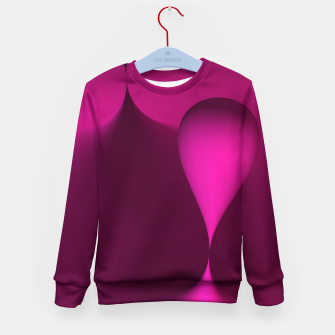 Thumbnail image of globby pink Kid's Sweater, Live Heroes