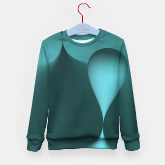 Thumbnail image of globby turquoise Kid's Sweater, Live Heroes