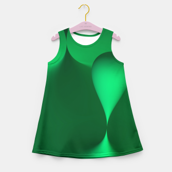 Thumbnail image of globby green Girl's Summer Dress, Live Heroes