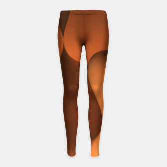 Thumbnail image of globby orange Girl's Leggings, Live Heroes
