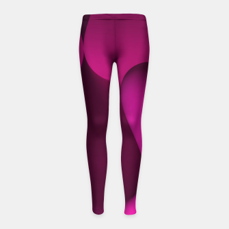 Thumbnail image of globby pink Girl's Leggings, Live Heroes