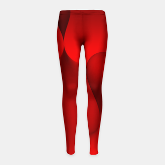 Thumbnail image of globby red Girl's Leggings, Live Heroes