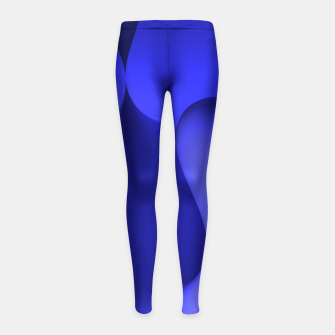 Thumbnail image of globby blue Girl's Leggings, Live Heroes