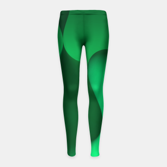 Thumbnail image of globby green Girl's Leggings, Live Heroes