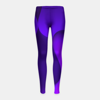 Thumbnail image of globby lilac Girl's Leggings, Live Heroes