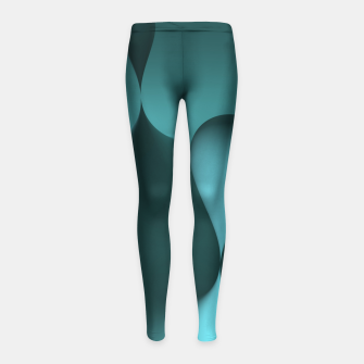 Thumbnail image of globby turquoise Girl's Leggings, Live Heroes