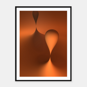 globby orange Framed poster thumbnail image