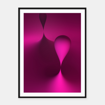 Thumbnail image of globby pink Framed poster, Live Heroes