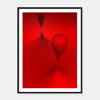 Thumbnail image of globby red Framed poster, Live Heroes