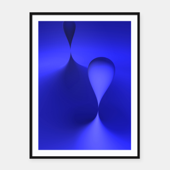 Thumbnail image of globby blue Framed poster, Live Heroes