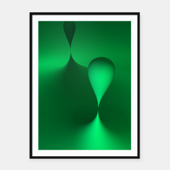 Thumbnail image of globby green Framed poster, Live Heroes