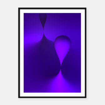 Thumbnail image of globby lilac Framed poster, Live Heroes