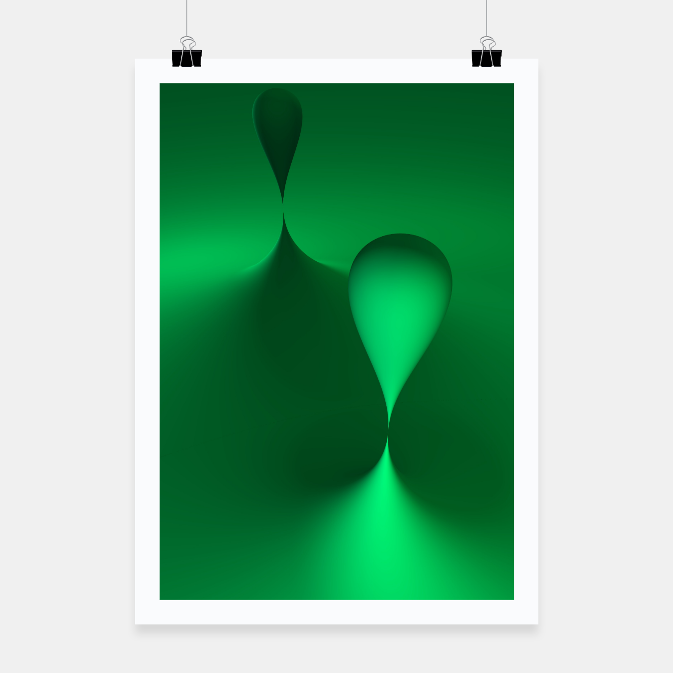 Image of globby green Poster - Live Heroes