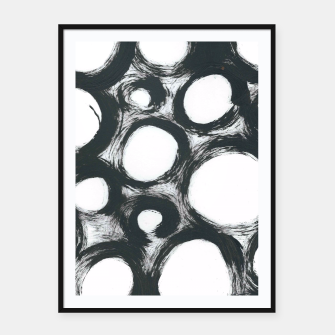 Thumbnail image of Circ Abstract Framed poster, Live Heroes
