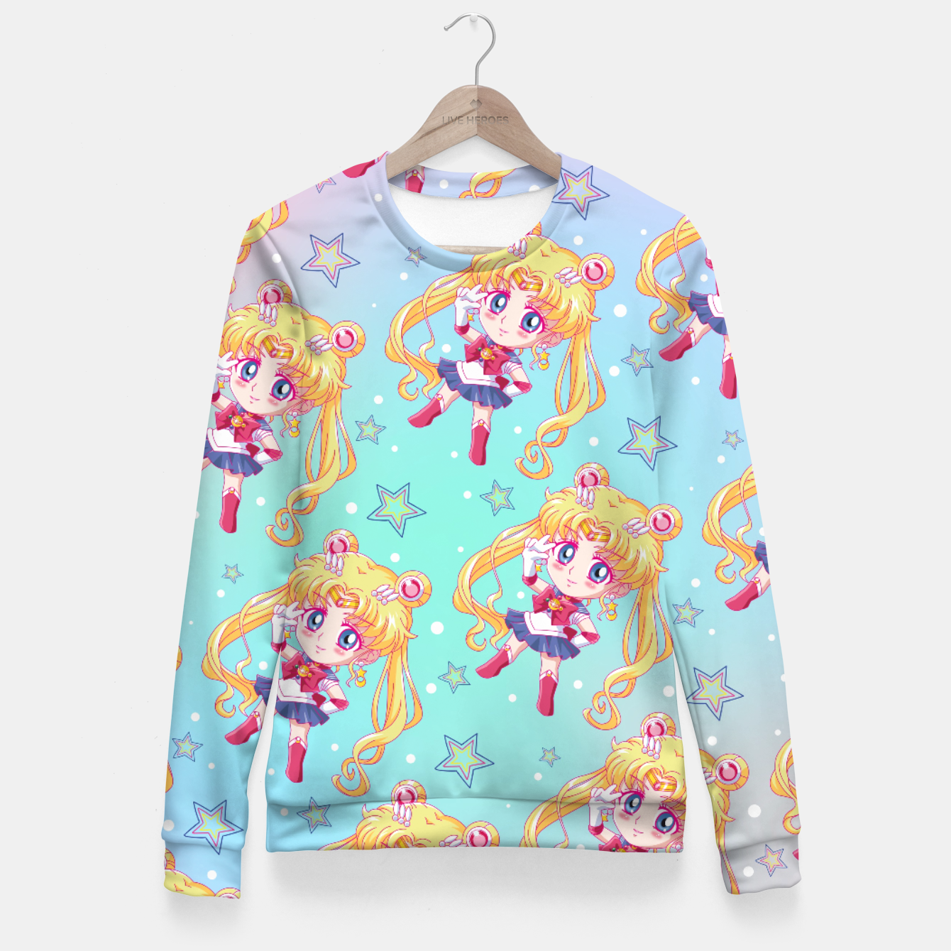 Zdjęcie Chibi Sailor Moon Crystal Fitted Waist Sweater - Live Heroes