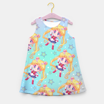 Chibi Sailor Moon Crystal Girl's Summer Dress obraz miniatury