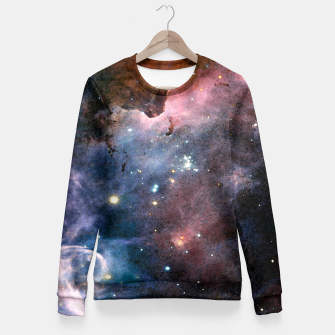 Miniatur Blue Nebula Fitted Waist Sweater, Live Heroes