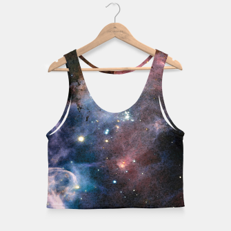 Thumbnail image of Blue Nebula Crop Top, Live Heroes