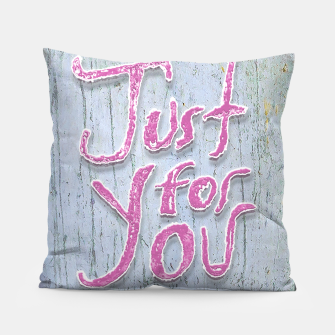 Miniatur Love Quote Grunge Style Design Pillow, Live Heroes