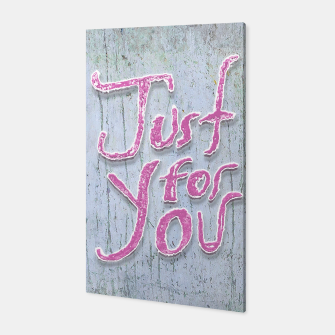 Miniatur Love Quote Grunge Style Design Canvas, Live Heroes