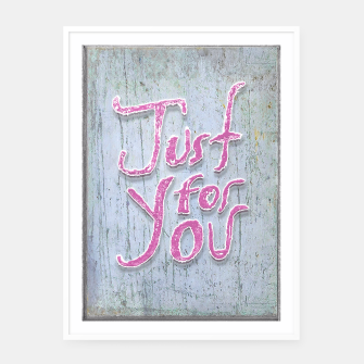 Miniatur Love Quote Grunge Style Design Framed poster, Live Heroes