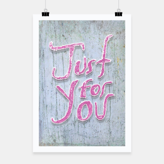 Miniatur Love Quote Grunge Style Design Poster, Live Heroes