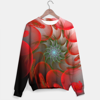 Thumbnail image of fractal flower pattern -1- Sweater, Live Heroes