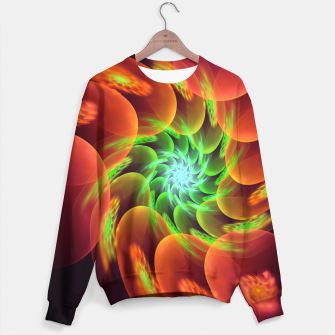 Thumbnail image of fractal flower pattern -3- Sweater, Live Heroes