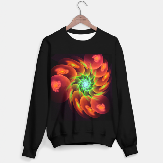 Thumbnail image of fractal flower pattern -3- Sweater regular, Live Heroes