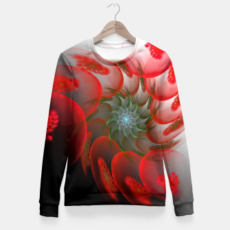 Thumbnail image of fractal flower pattern -1- Fitted Waist Sweater, Live Heroes