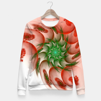 fractal flower pattern -2- Fitted Waist Sweater thumbnail image